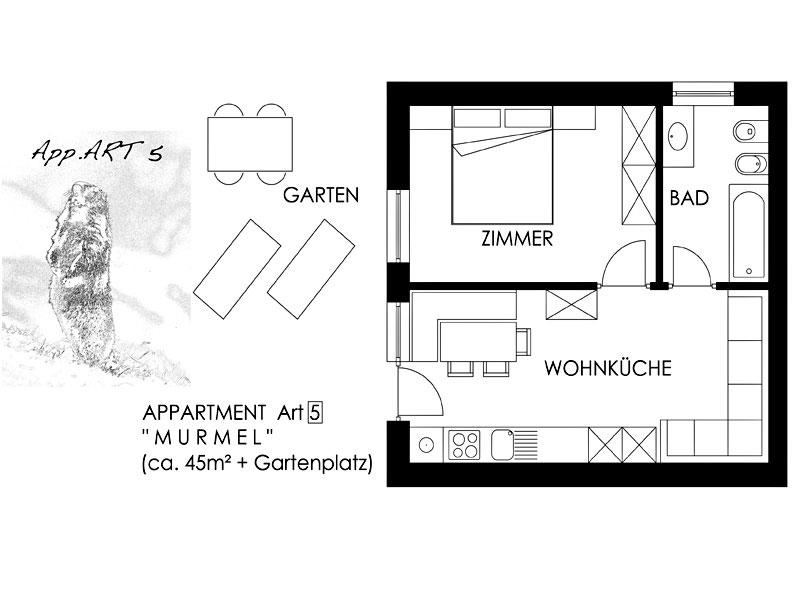 appartament murmel schopplhof in den dolomiten. Black Bedroom Furniture Sets. Home Design Ideas